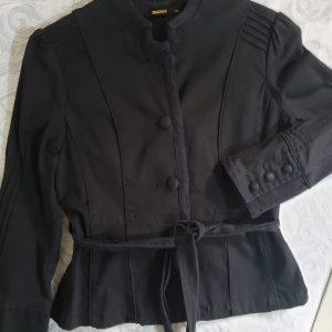 COD: 10016L – Jaqueta preta, brim com elastano, forrada, tamanho 40 – seminovo