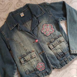 COD: 10017B – Jaqueta jeans, infantil, Palo Mino, tamanho 8 – seminovo